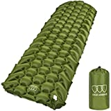 Gold Armour Sleeping Pad - Ultralight Compact Inflatable Camping Pad for Backpacking Traveling Hiking Camping Air Cells Design for Better Stability and Support - Tested 2.5 R-Value