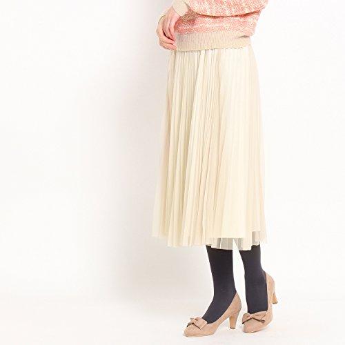 (クチュールブローチ) Couture Brooch チュールプリーツスカート 50879656 38(M) ライトベージュ(051)