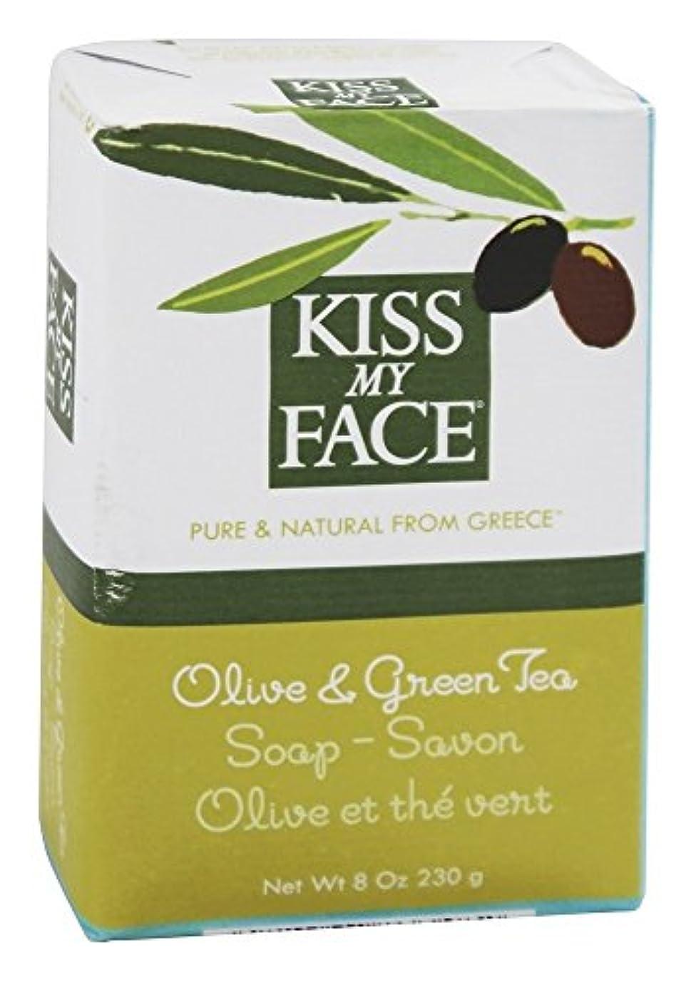 エジプト人控えめな提唱するKiss My Face - オリーブ石鹸&グリーン ティー - 8ポンド [並行輸入品]