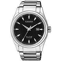 Citizen Men's Solar Powered Wrist watch, Titanium Bracelet analog Display and Titanium Strap, BM7360-82E