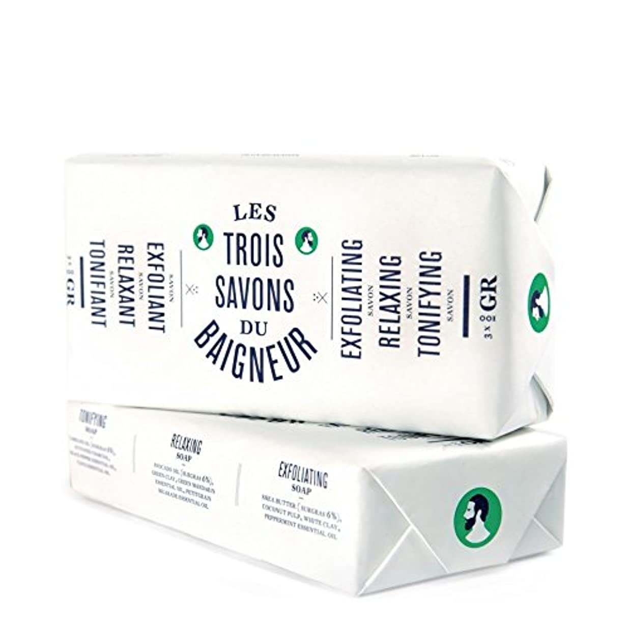 平行警察症状Le Baigneur Soap Set 300g - ル石鹸セット300グラム [並行輸入品]