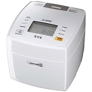 三菱電機 IHジャー炊飯器 備長炭炭炊釜 5.5合炊き ピュアホワイト NJ-VE106-W