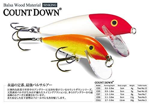 ラパラ(Rapala) カウントダウン 7cm 8g パーチ COUNT DOWN. CD7-P