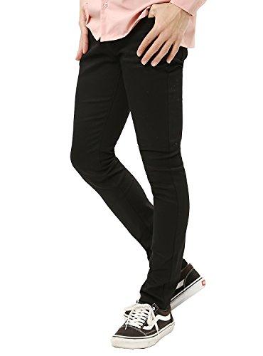 JIGGYS SHOP (ジギーズショップ) スキニーパンツ メンズ スキニー パンツ ストレッチ スリム フィット L ブラック