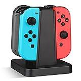 Nintendo Switch 充電器【Mothca】 Joy-Con コントローラー 充電スタンド 4台同時充電 任天堂 スイッチ Joy-Con グリップ 縦置き 充電器 充電ホルダー 充電指示ランプ付き