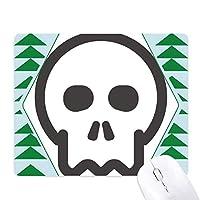 シンプルブラックスケルトンかわいい素敵なオンラインチャット絵文字の発現パターン オフィスグリーン松のゴムマウスパッド