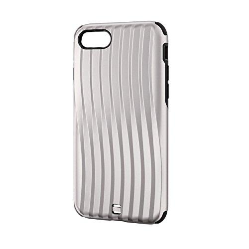 エレコム iPhone8/ハイブリッドケース キャリーバッグ調 シルバー PM-A17MHV 1個 ELECOM