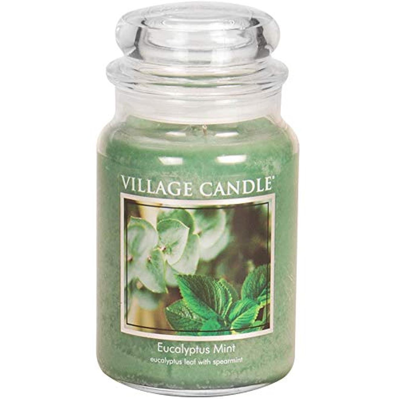 刺す半島章Village Candle Scented Large Jar 26oz - EUCALYPTUS MINT by Village Candle