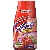Colgate フッ化物の歯磨き粉ストロベリースマッシュリキッドジェル、4.60オンス