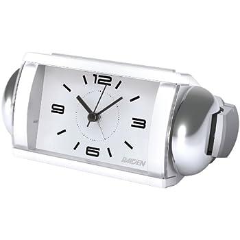 SEIKO CLOCK (セイコークロック) 目覚まし時計 アナログ 大音量 ベル音 RAIDEN (ライデン) 白 NQ709W