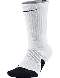 ナイキ(NIKE) エリート バスケットボール クルー ソックス 1.5 SX5593 100 ホワイト/ブラック 27-29cm