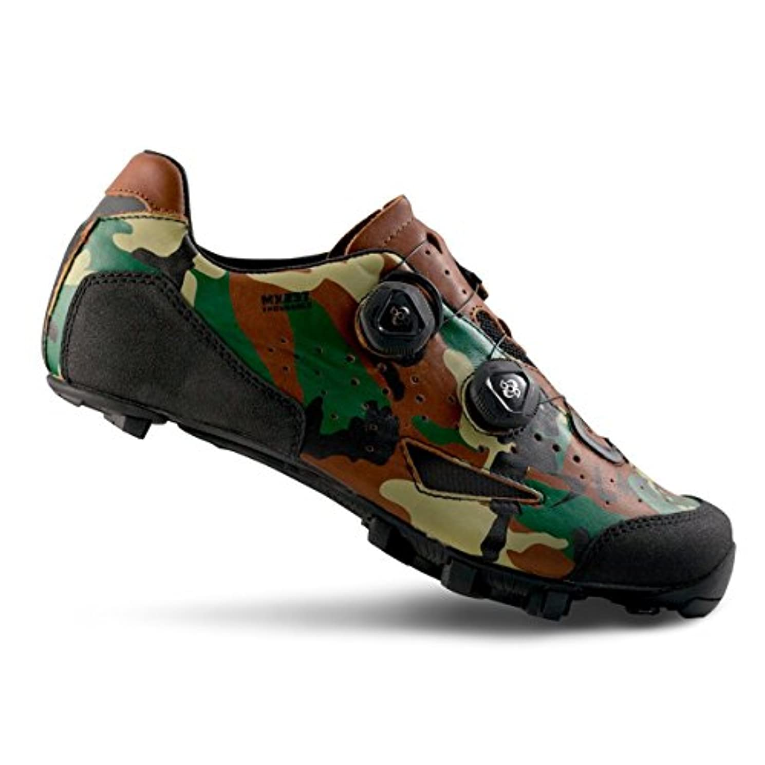 安全な凍結闇Lake mx237 Endurance Cycling Shoe – Wide – Men 's Camoフォレスト、46.0