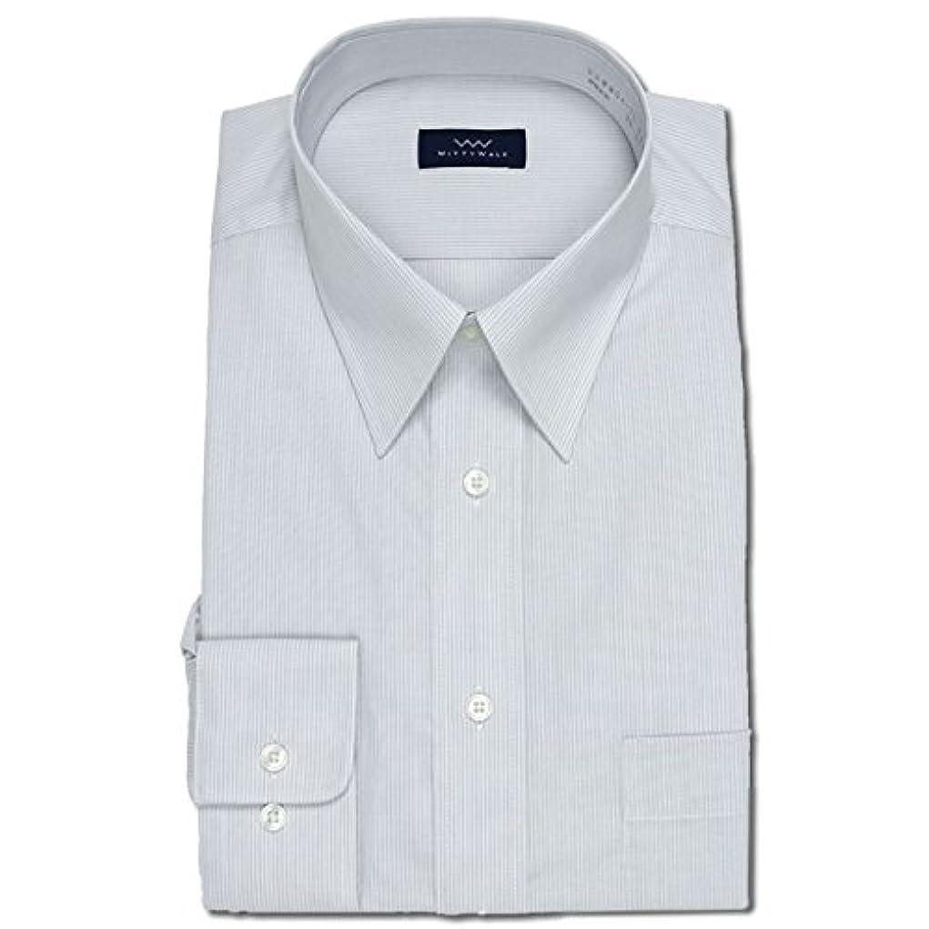 小間変換悩みワイシャツ Yシャツ メンズ長袖 レギュラーカラー 形態安定 WITTYWALK P12WWR203 42-84