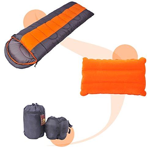 OUTERDO 寝袋 封筒型 シュラフ 軽量 防水保温 コン...
