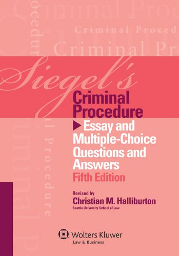 criminal procedure essay questions and answers There is a clear procedure on the issuing of summons with reference to the blacks law dictionary summon refers to a writ or process commencing the plaintiffs action and requiring the plaintiffs to appear and answer.