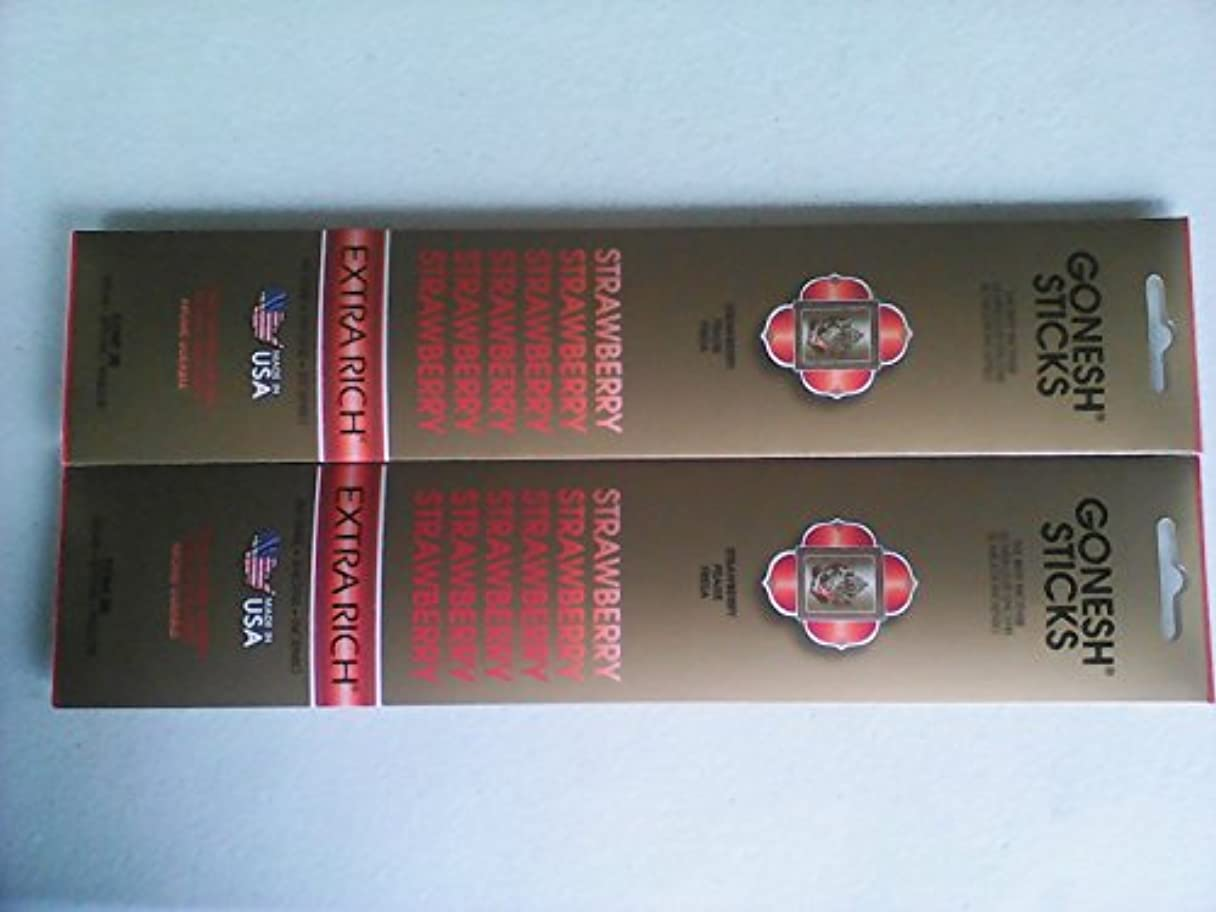 日没失効窓を洗うGonesh 20803 Strawberry Incense Sticks 20 Count ( Pack of 2 )