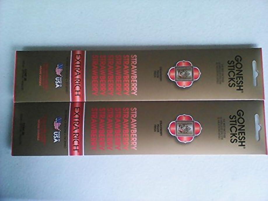 表現サーバ未払いGonesh 20803 Strawberry Incense Sticks 20 Count ( Pack of 2 )