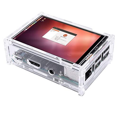 『Kuman Raspberry Pi ディスプレイ タッチスクリーン 3.5インチ ケース ヒートシンク Pi 3B 2B B A A B 用 SC11-JP』のトップ画像