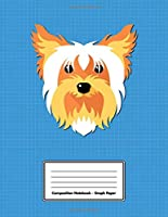 """Composition Notebook - Graph Paper: Blue Yorkshire Terrier 