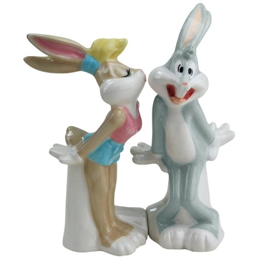 Salt & Pepper Shakers Set - Looney Tunes - Lola Bunny Kissing Bugs 23802