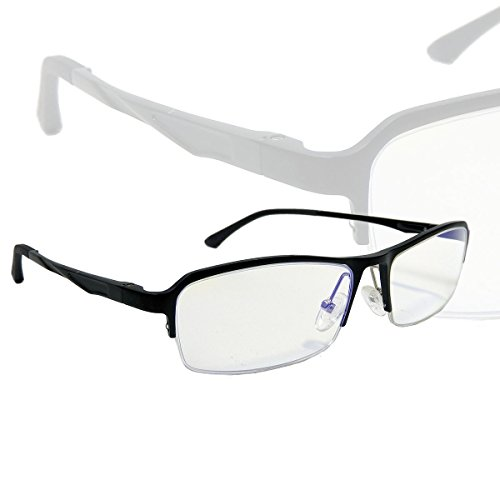 ブルーライトカットメガネ 最大で80%の青色光をカット 目の疲れを軽減 肩こり ストレス解消 おしゃれなデザイン ナイロール ハーフリム