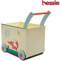 Hessie Little幼児用キッズ/ベビープッシュ木製学習ウォーカー、プッシュとプルToys for 1年とUp One Size HES008-FO