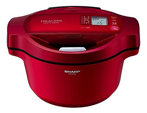 シャープ ヘルシオ ホットクック 水なし自動調理鍋 1.6L レッド KN-HT99A-R
