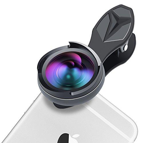 OMASI 広角レンズ スマホレンズ 2in1(0.6倍広角、10倍マクロレンズ)4K カメラレンズ【ケラレ、変形なし】ワイドレンズ クリップ式 セルカレンズ iphoneレンズ 全機種対応 自撮りレンズ