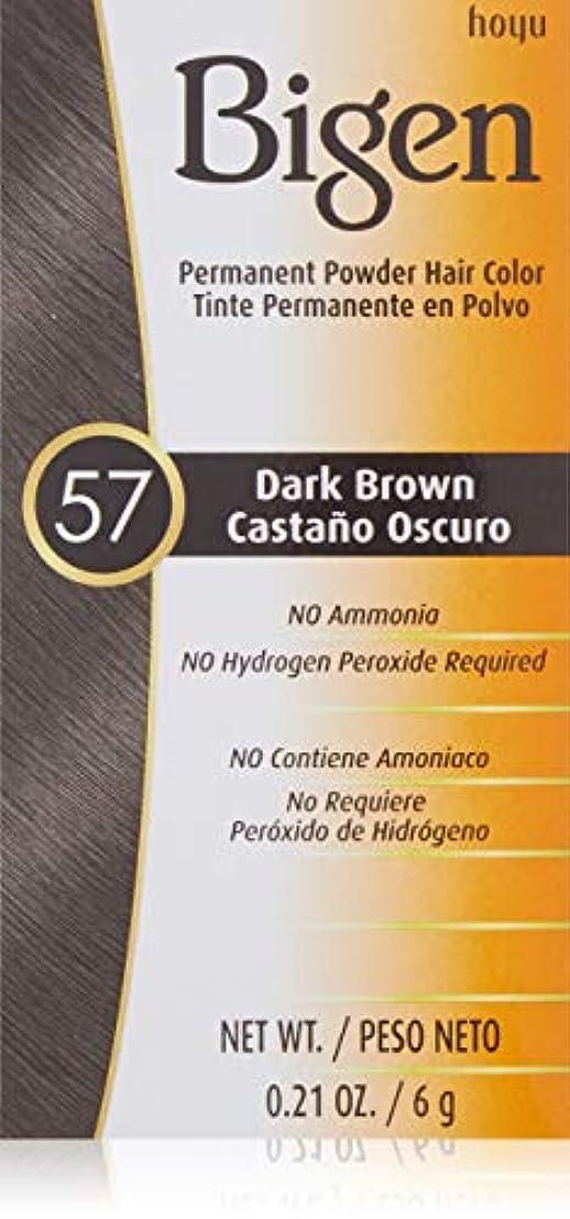 みがきます試用内向きBigen パウダーヘアカラー#57ダークブラウン0.21Oz(2パック) 0.21オンス(2パック) ダークブラウン
