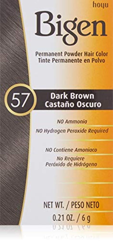 イースター電話不和Bigen パウダーヘアカラー#57ダークブラウン0.21Oz(2パック) 0.21オンス(2パック) ダークブラウン