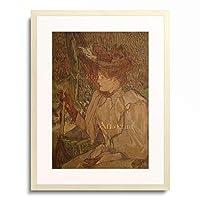 アンリ・ド・トゥールーズ=ロートレック Henri Marie Raymond de Toulouse-Lautrec-Monfa 「La femme au gants」 額装アート作品