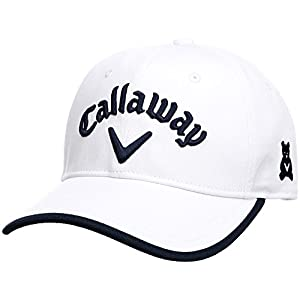 (キャロウェイ アパレル) Callaway Apparel [ レディース] 定番 ロゴ入り キャップ (サイズ調整) / 247-8984902 / 帽子 ゴルフ 247-8984902 030 030_ホワイト×ネイビー FR