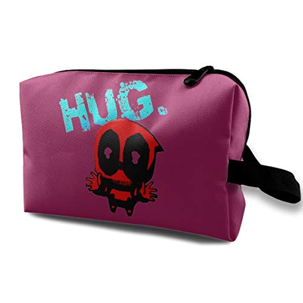 HUG 可愛いメンズ 化粧ポーチ 携帯用 化粧ポーチ 大容量 軽い 旅行ポーチ 洗面用具入れ 化粧ポーチ 収納 ハンドバッグ 財布 防水