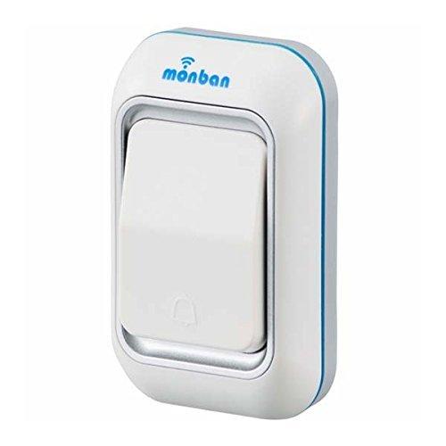 オーム 「monban(OCHシリーズ)」増設用ワイヤレスチャイム 押しボタン(送信機) OCH-M40