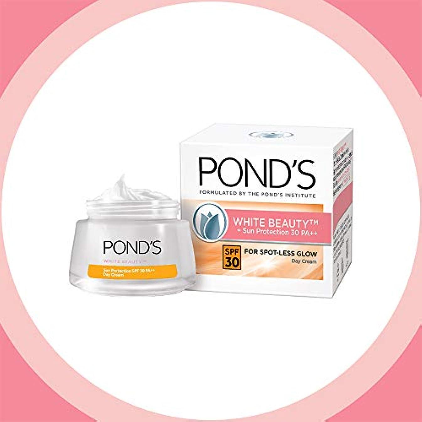 悲しいことにチューブ異常POND'S White Beauty Sun Protection SPF 30 Day Cream, 50 g