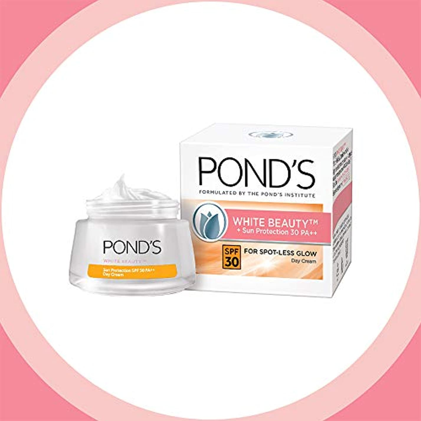 キャンバスワックス土曜日POND'S White Beauty Sun Protection SPF 30 Day Cream, 50 g