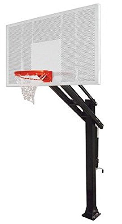 最初チームタイタン強度steel-aluminum Ground調整可能バスケットボールsystem44、砂漠でゴールド