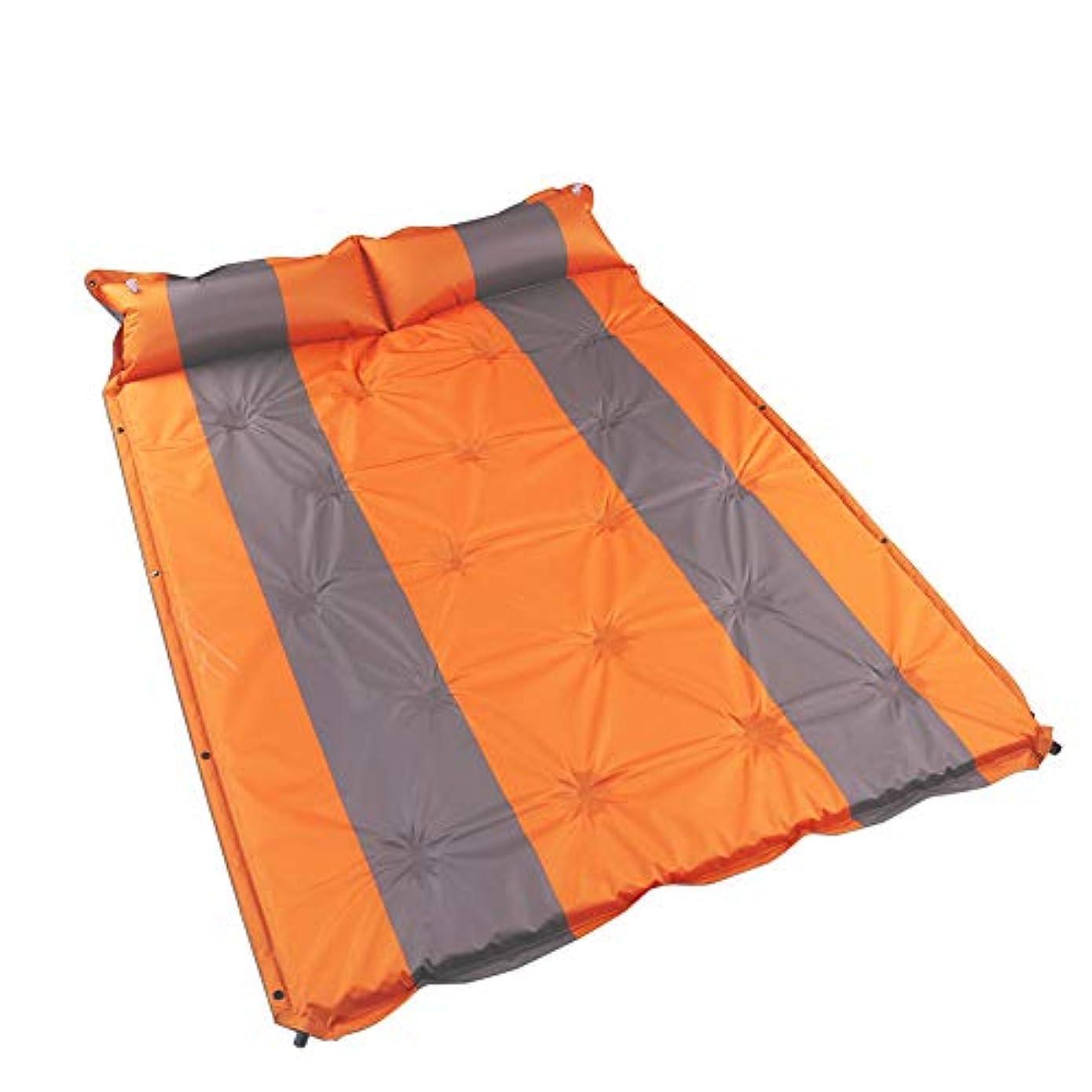 レジデンス湾溶かすキャンプ用 エアーマット自己膨張インフレーティング 折りたたみ コンパクトレジャーマット防水収納袋付印刷