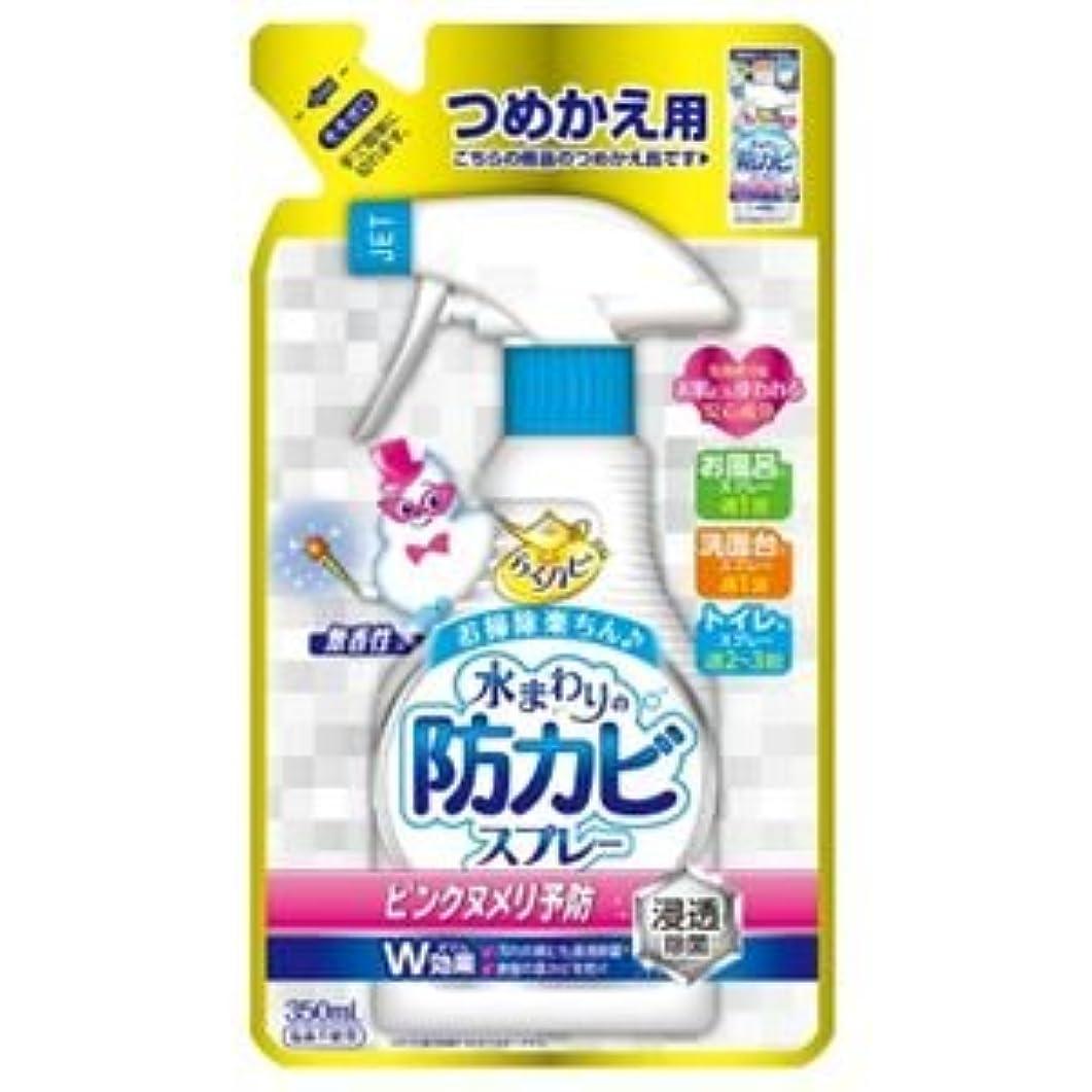 パテ乳製品壁紙(まとめ)アース製薬 らくハピ水まわりの防カビスプレー無香性かえ 【×5点セット】