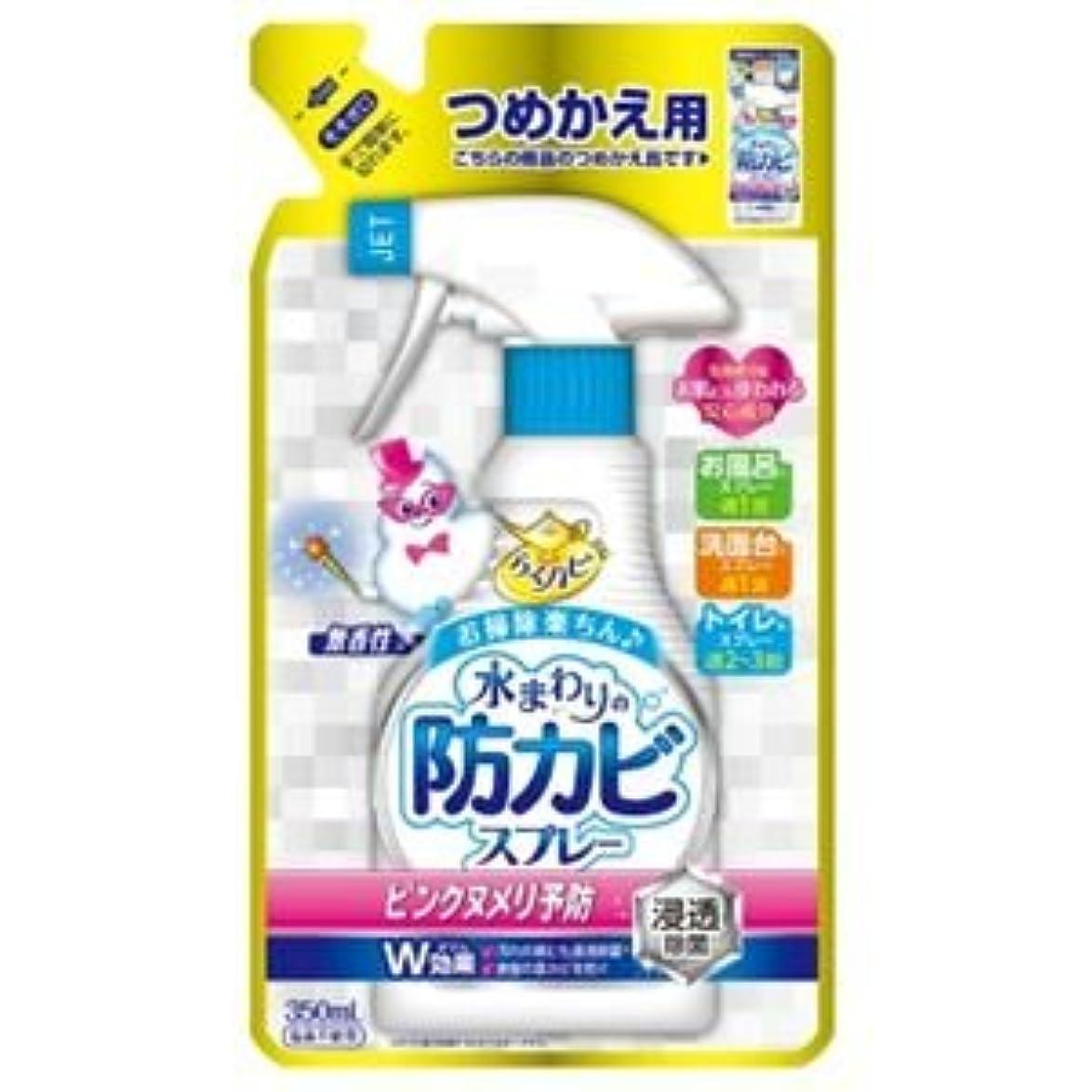 快適服を洗う快適(まとめ)アース製薬 らくハピ水まわりの防カビスプレー無香性かえ 【×5点セット】