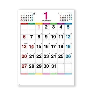 新日本カレンダー 2019年 カラーラインメモ カレンダー 壁掛け NK174 (2019年 1月始まり)