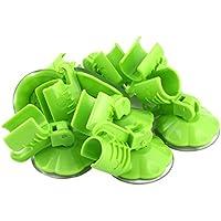 uxcell シャワーヘッド シャワーフック 掛けホルダー 家庭用 ホテル プラスチック サッカー 壁へ取り付け グリーン 8個入り
