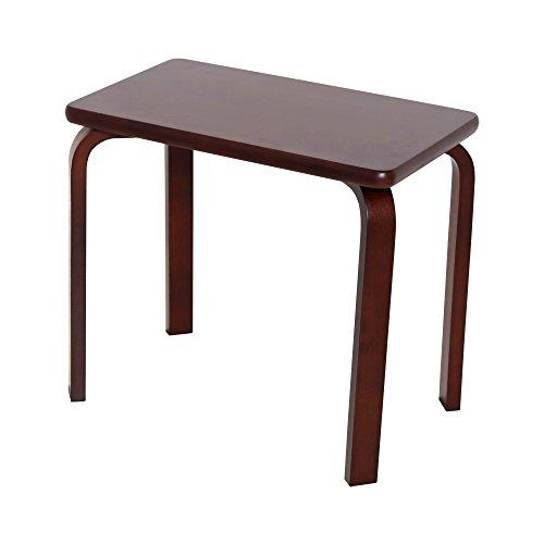 【JAJAN】 天然木ベッドサイドテーブル ブラウン [ シンプル ][ 北欧パイン材 ]