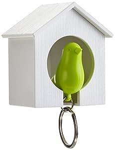 QUALY 鍵収納 キーリング Sparrow Keyring グリーン/ホワイトハウス 090004GR