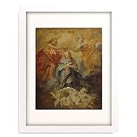 ピーテル・パウル・ルーベンス Peter Paul Rubens 「The Coronation of the Virgin, sketch, ca. 1632-1633.」 額装アート作品