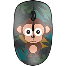 Nulaxy 2.4G Ergonomic Wireless Mouse, Portable Mobile Computer Mouse Optical Mice with USB Receiver, 3 Adjustable DPI Levels, Best for Notebook, PC, Laptop, Computer, MacBook (Monkey)