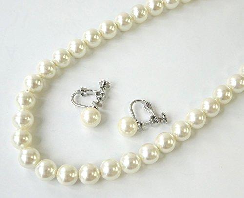 【あなたと私の宝石箱】 国内産 真珠ネックレス8.0ミリ珠イヤリングセット・本貝パールネックレスイヤリングセット<日本製>【ギフトラッピング済み】