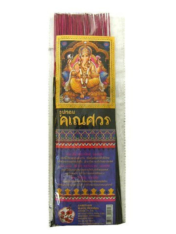 飾る辞書くるくるTHAI INCENSE タイのお香 ガネーシャンブラック約60本入り