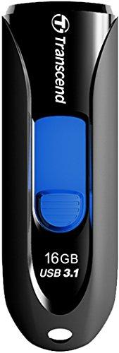 USBメモリ 16GB USB3.1 & USB 3.0 スライド式 ブラック TS16GJF790K