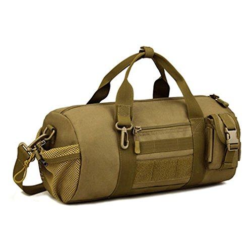 Sunvp タクティカル ミリタリー MOLLE ボストンバッグ ロールボストンバッグ ショルダーバッグ 手持ちバッグ メンズ レディース 旅行大容量 (ブラウン)